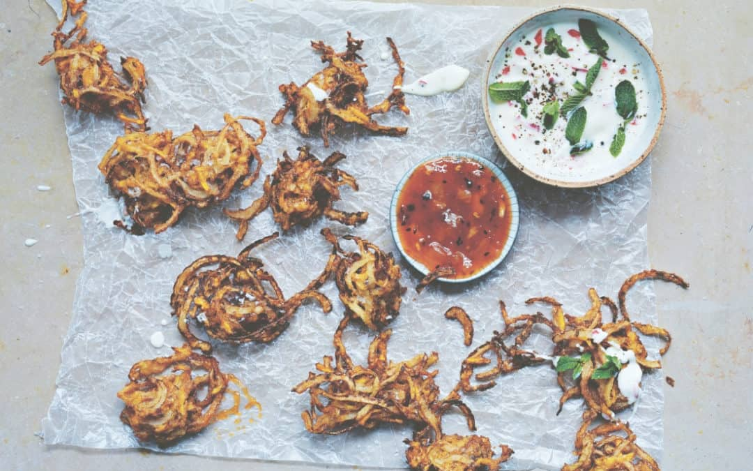 carrot and onion bhajis