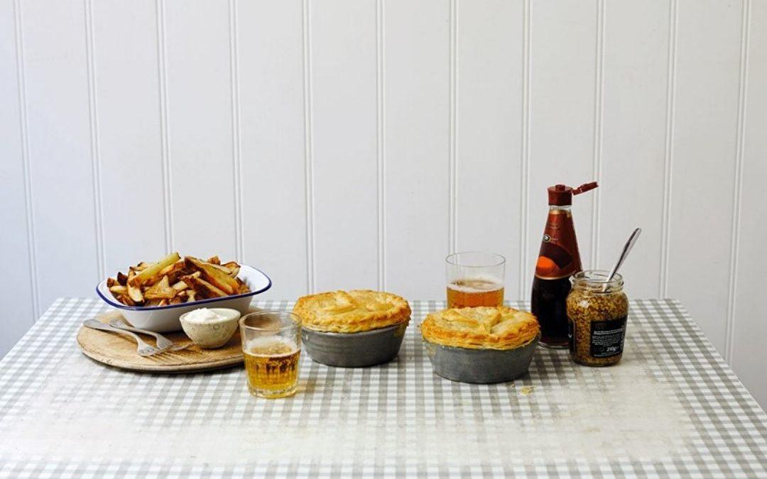leek and mushroom pot pies