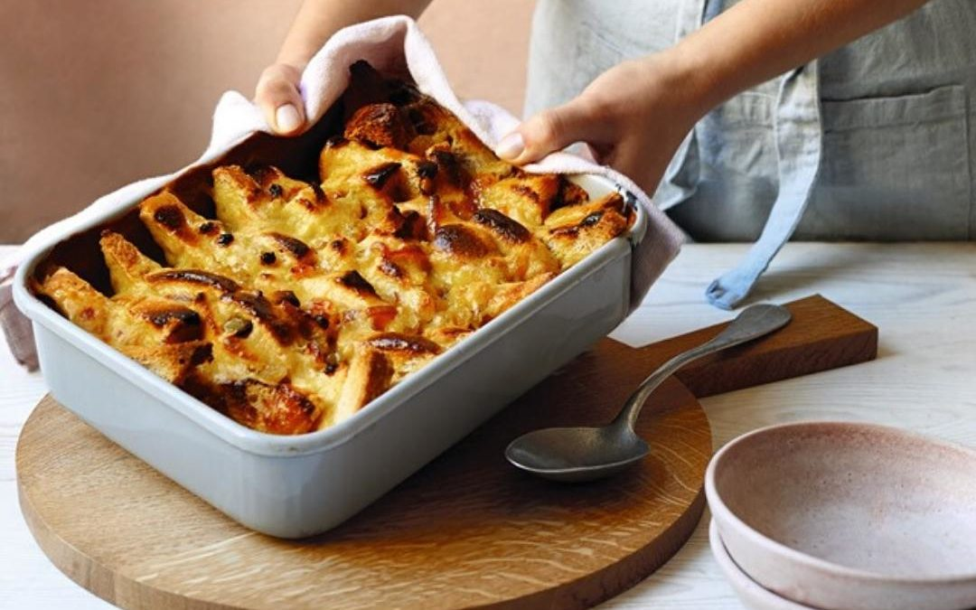 zesty bread and butter pudding
