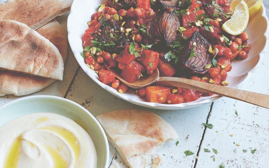 moroccan chickpea and squash traybake