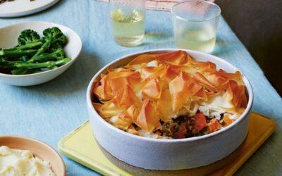 creamy squash and Puy lentil pie