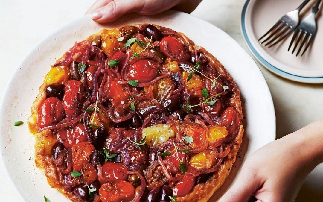 tomato and olive tarte tatin